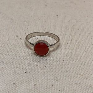 Jewelry - Sterling silver carnelian stacking ring size 7
